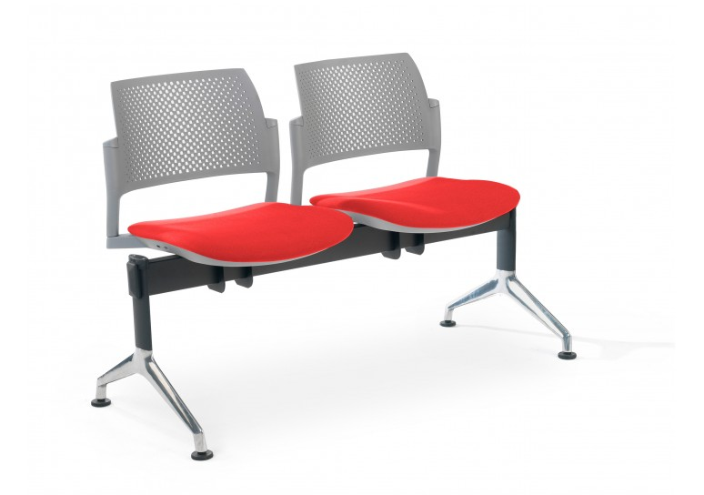 Bancada kyoto tapizada 2 asientos gris