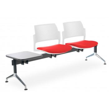 Bancada kyoto - Bancada sala de espera Kyoto tapizada 2 asientos+mesa blanco - Imagen 1