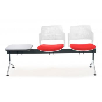 Bancada kyoto - Bancada sala de espera Kyoto tapizada 2 asientos+mesa blanco - Imagen 2