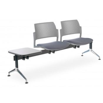 Bancada kyoto - Bancada sala de espera Kyoto tapizada 2 asientos+mesa gris - Imagen 1