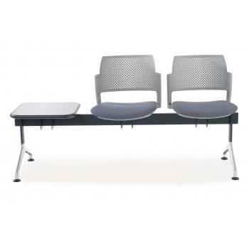 Bancada kyoto - Bancada sala de espera Kyoto tapizada 2 asientos+mesa gris - Imagen 2