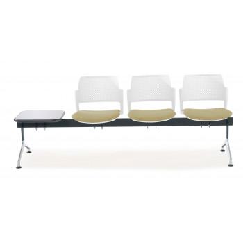 Bancada kyoto - Bancada sala de espera Kyoto tapizada 3 asientos+mesa blanco - Imagen 2
