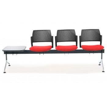 Bancada kyoto - Bancada sala de espera Kyoto tapizada 3 asientos+mesa negro - Imagen 2