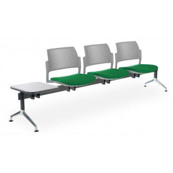 Bancada kyoto - Bancada sala de espera Kyoto tapizada 3 asientos+mesa gris - Imagen 1