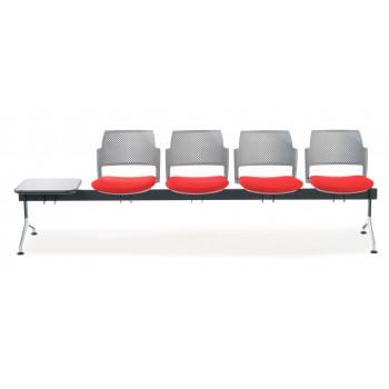 Bancada kyoto - Bancada sala de espera Kyoto tapizada 4 asientos+mesa gris - Imagen 2