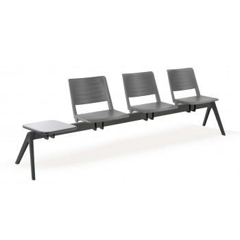 Bancada replay - Bancada sala de espera replay 3 asientos+mesa - Imagen 1
