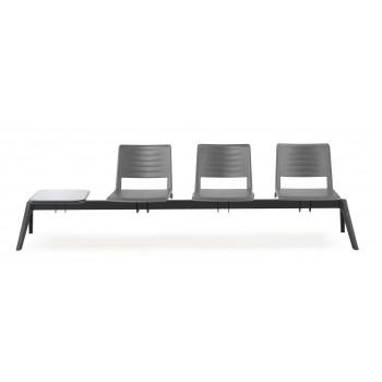 Bancada replay - Bancada sala de espera replay 3 asientos+mesa - Imagen 2