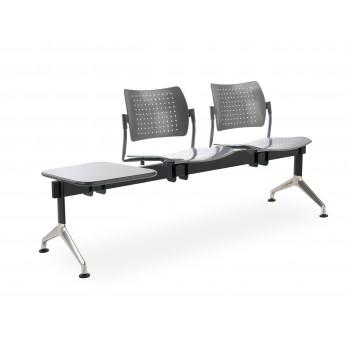 Bancada strike - Bancada metálica sala de espera strike 2 asientos+mesa - Imagen 1