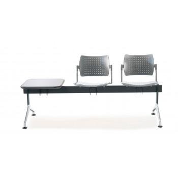 Bancada strike - Bancada metálica sala de espera strike 2 asientos+mesa - Imagen 2