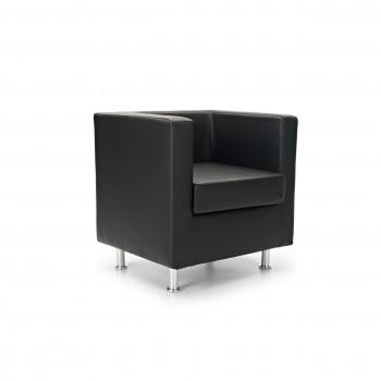 Sofa viena - Sofa de recepción viena 1 plaza negro - Imagen 1