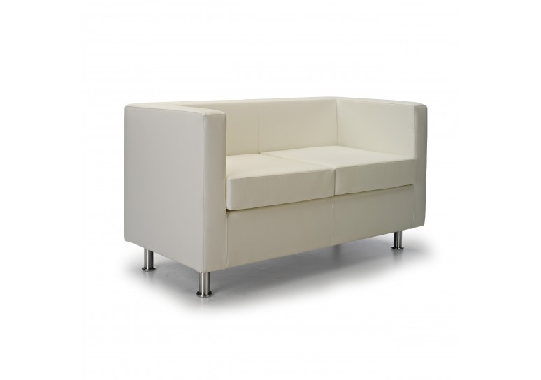 Sofa viena 2 plazas blanco