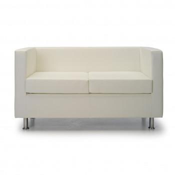 Sofa viena - Sofa de recepción viena 2 plazas blanco - Imagen 2
