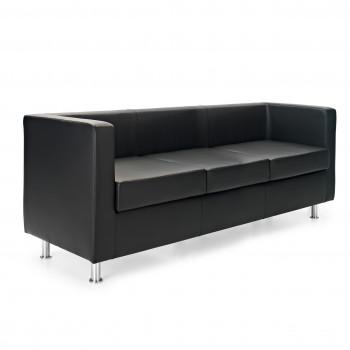 Sofa viena - Sofa de recepción viena 3 plazas negro - Imagen 1