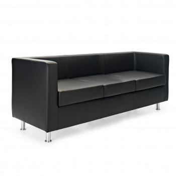 Sofa viena 3 plazas negro