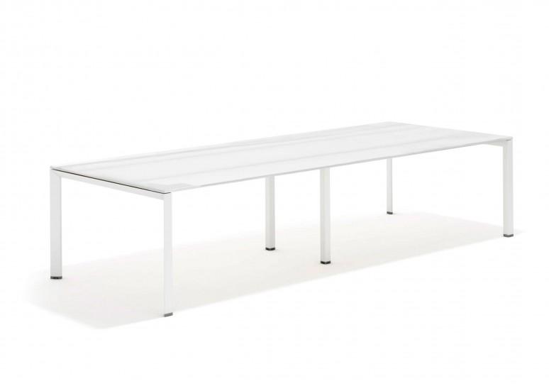Link mesa de juntas cristal 126 blanco