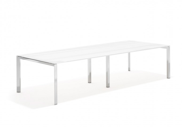 Link mesa de juntas cristal 126 cromo