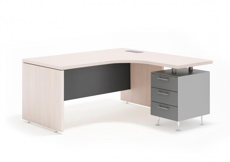 System mesa ergonomica 3 cajones aluminio