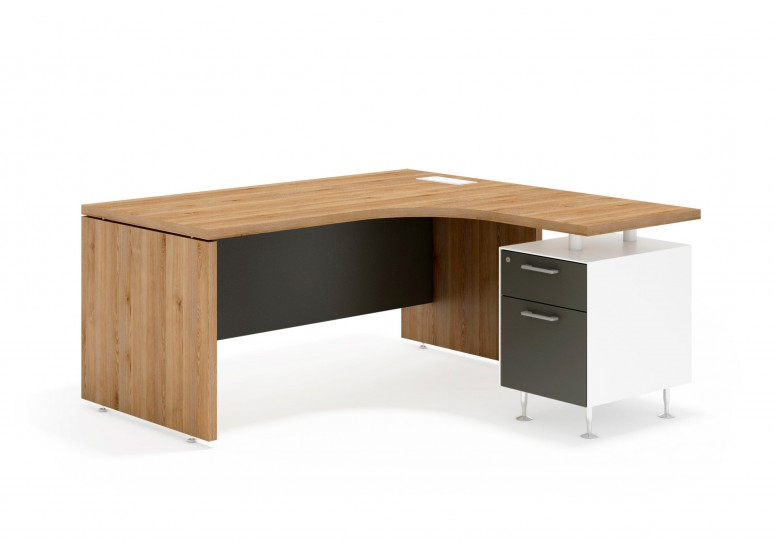 System mesa ergonomica cajon/archivo blanco