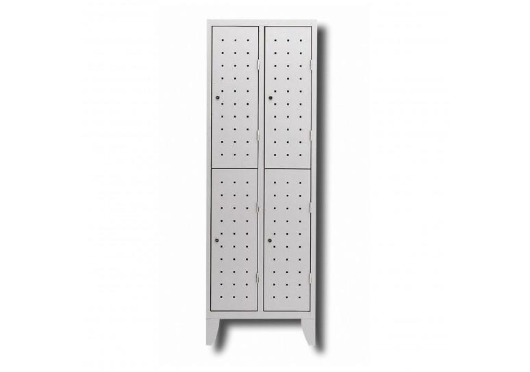 Taquilla duplox 4 puertas gris