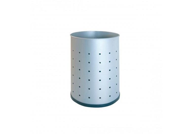 Papelera metalica perforada