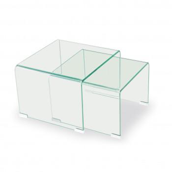 Glass - Conjunto 2 mesas de centro cristal templado - Imagen 1