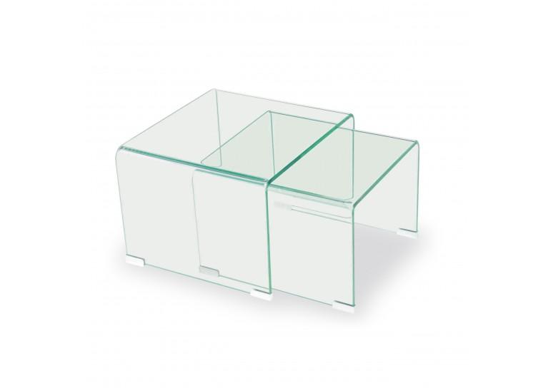 Conjunto 2 mesitas cristal