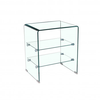 Glass - Mesita auxiliar doble estante - Imagen 1