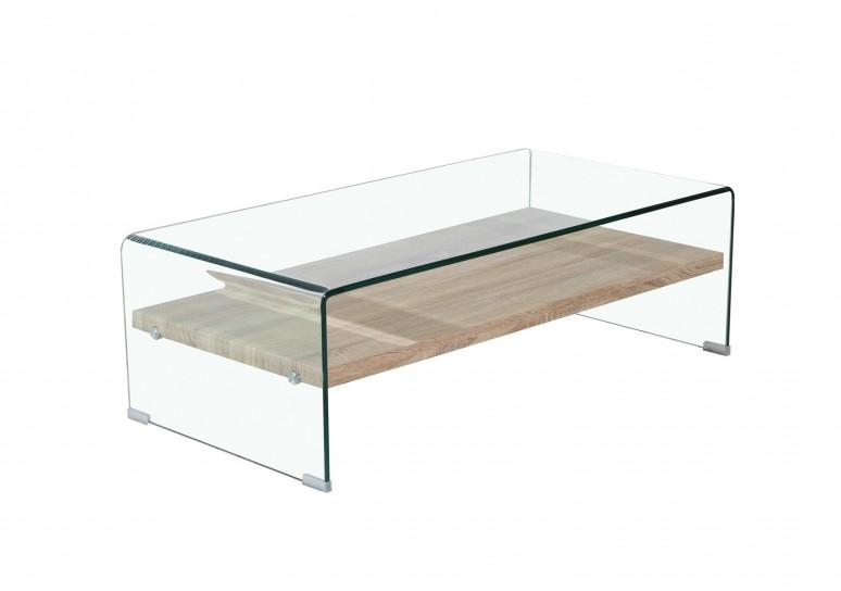 Mesa de centro estante madera