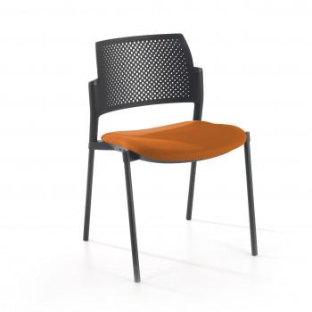 Kyoto - Silla confidente kyoto 4 patas tapizada naranja - Imagen 1