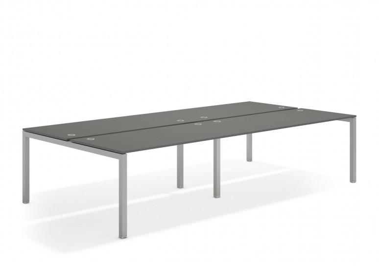 Kubika mesa bench doble 166 aluminio