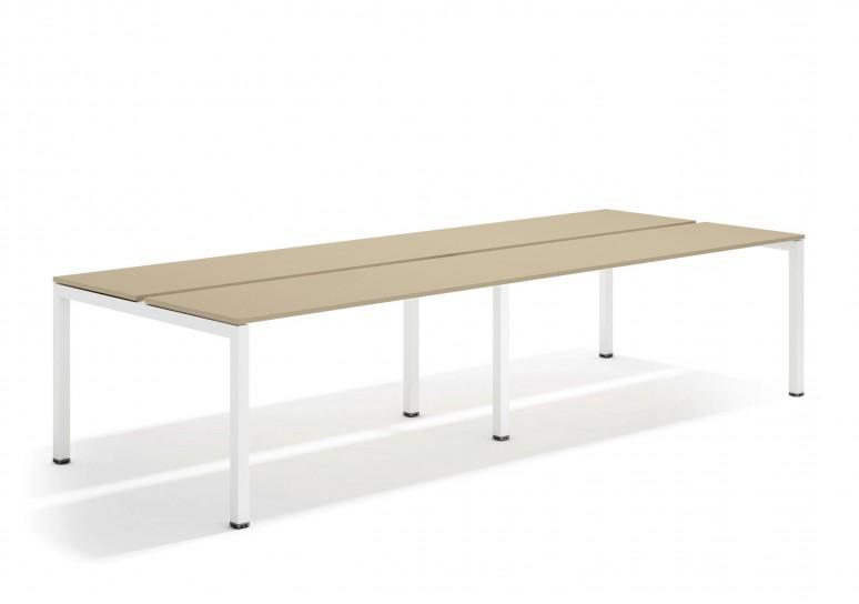 Kubika mesa bench doble 126 blanco