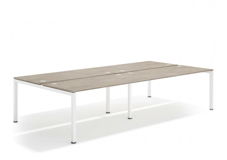 Kubika mesa bench doble 166 blanco