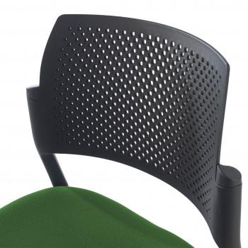 Kyoto - Silla confidente kyoto 4 patas tapizada verde - Imagen 2