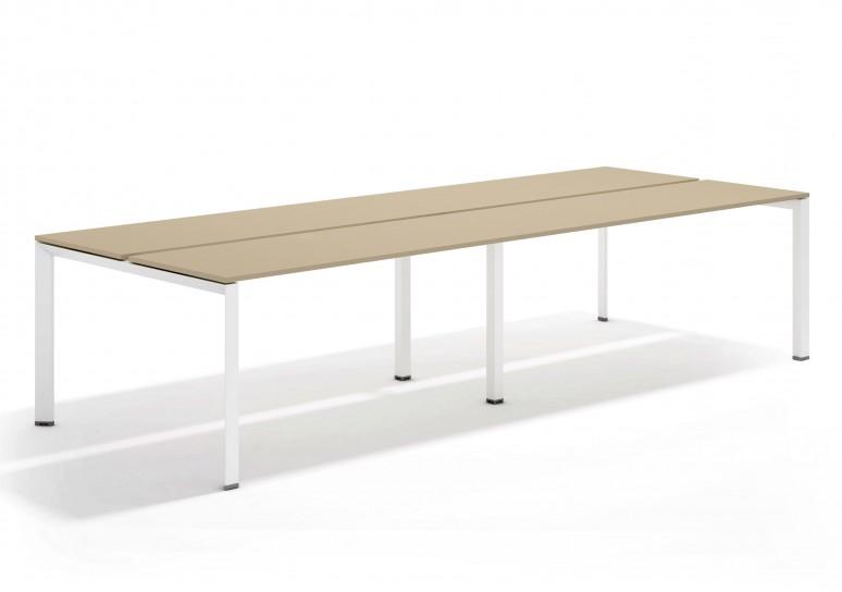 Link mesa bench doble 126 blanco