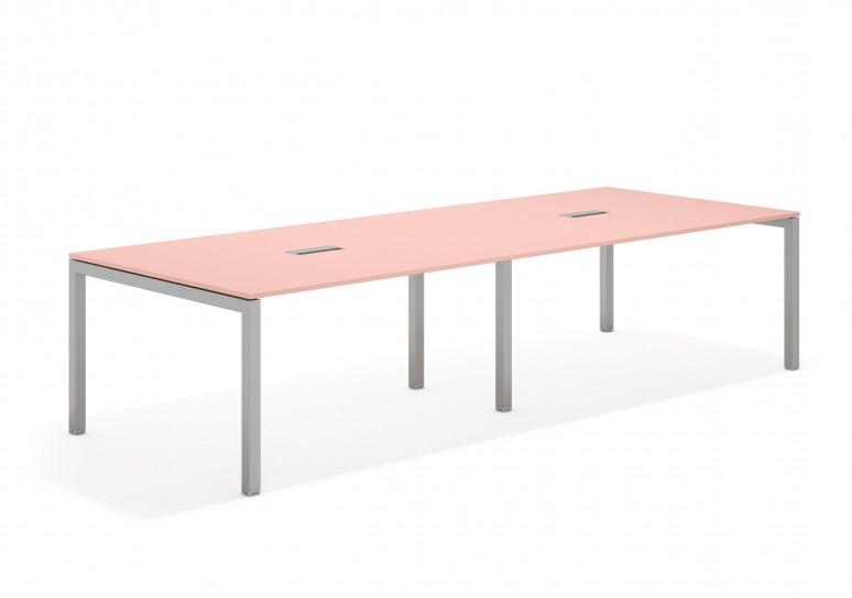 Kubika mesa de juntas doble 126 aluminio