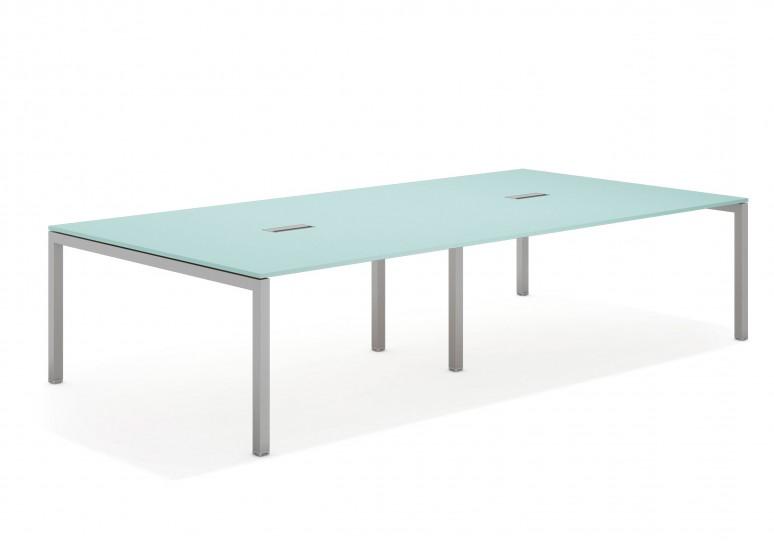 Kubika mesa de juntas doble 166 aluminio