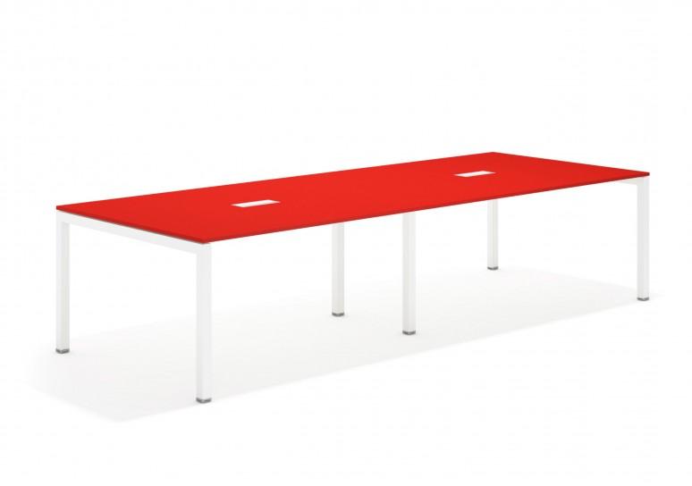 Kubika mesa de juntas doble 126 blanco