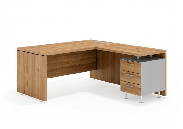 System mesa con ala 3 cajones aluminio