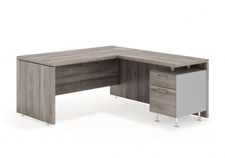 System mesa con ala cajon/archivo aluminio