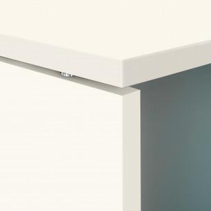 System mesa con ala blanco