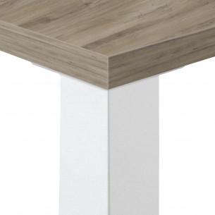 Quadra mesa con ala blanco