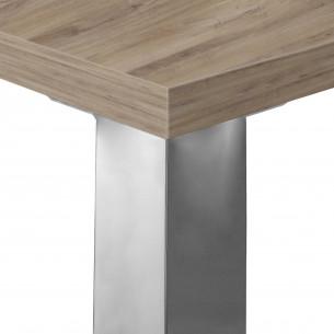 Quadra mesa con ala cromo