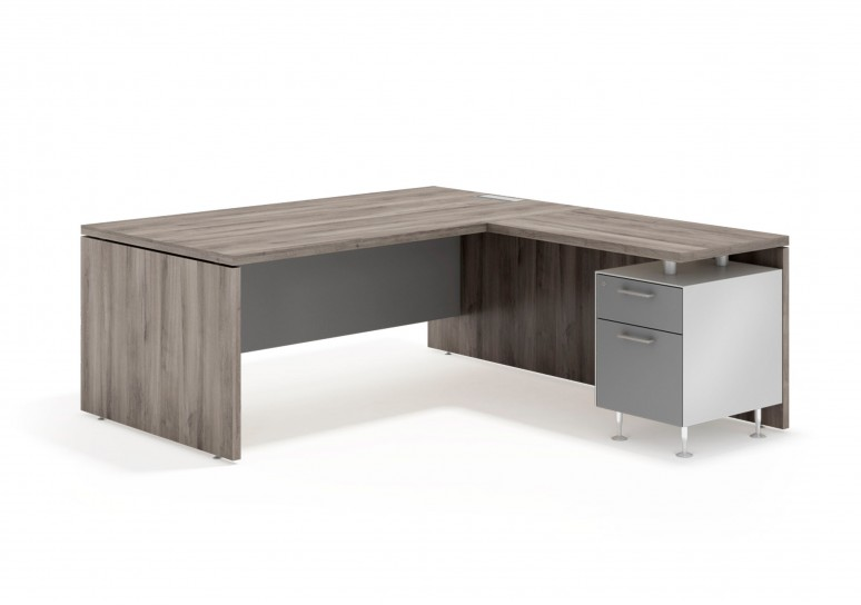 Manager mesa con ala buc cajon/archivo aluminio