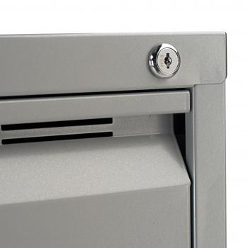 Strong - Archivador de oficina strong 4 cajones, cierre centralizado, aluminio - Imagen 2