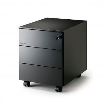 Steelbox - Cajonera de oficina steelbox 3 cajones negro - Imagen 2