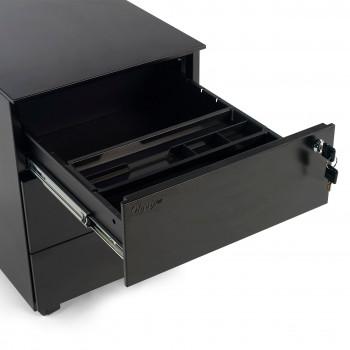 Buc steelbox 3 cajones negro