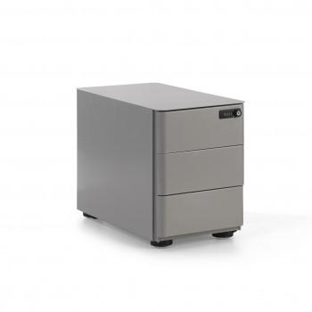 Moby - Cajonera de oficina moby mini aluminio - Imagen 1