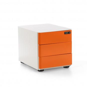 Moby - Cajonera de oficina moby 3 cajones naranja - Imagen 1