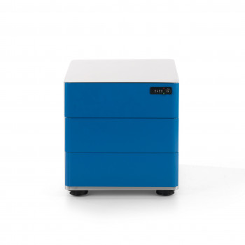 Moby - Cajonera de oficina moby 3 cajones azul - Imagen 2