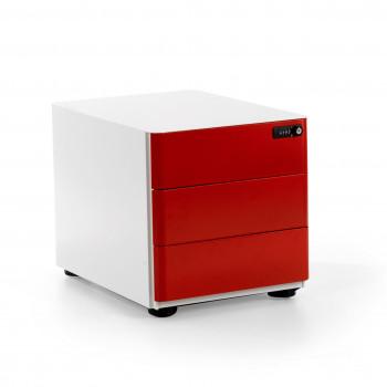 Moby - Cajonera de oficina moby 3 cajones rojo - Imagen 1